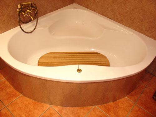 Alfombrilla 94x34 antideslizante ovalada tarima para for Tarima para plato ducha