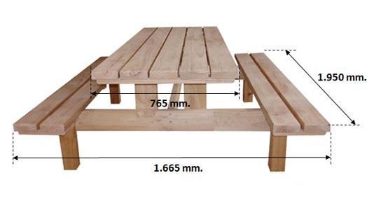 Mesa de picnic en crudo sin tratar ebay for Mesa de picnic madera