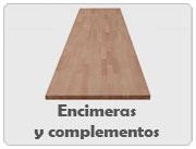 Encimeras de madera y complementos
