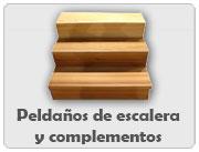 Peldaños de madera y complementos