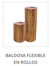 Baldosa flexible en rollos