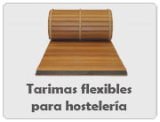 Tarimas flexibles para hosteleria