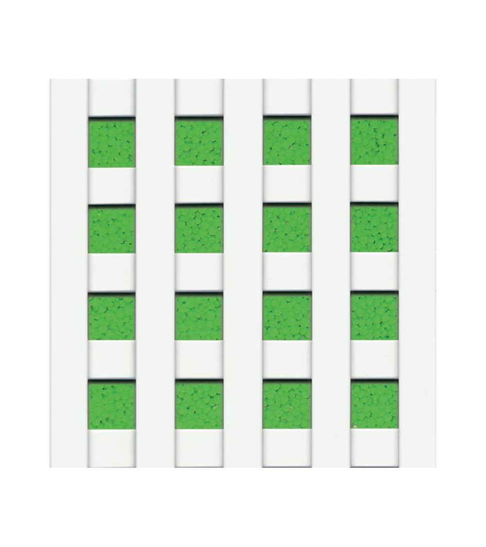 Celosía cuadro 20 mm PVC blanco