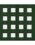 Celosía cuadro 20 mm PVC verde