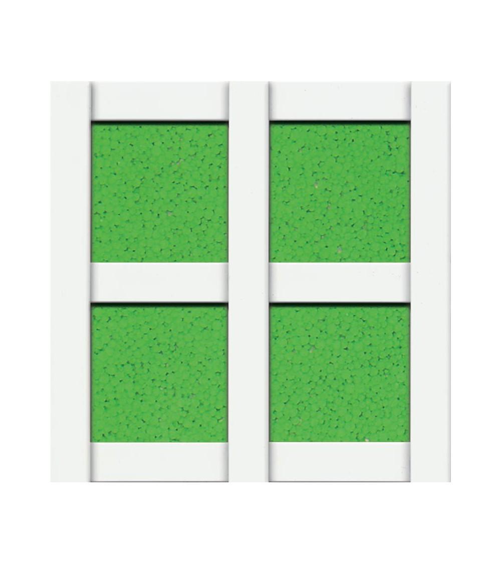 Celosía cuadro 57 mm PVC blanco