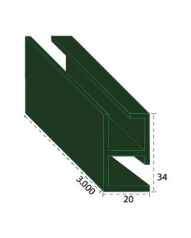 Cerco esquina PVC verde