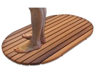 Tarima para ducha antideslizante ovalada 69 x 34 cm