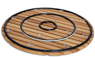 Tarima para ducha flexible circular
