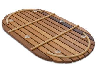 Tarima para ducha flexible ovalada 69 x 34 cm