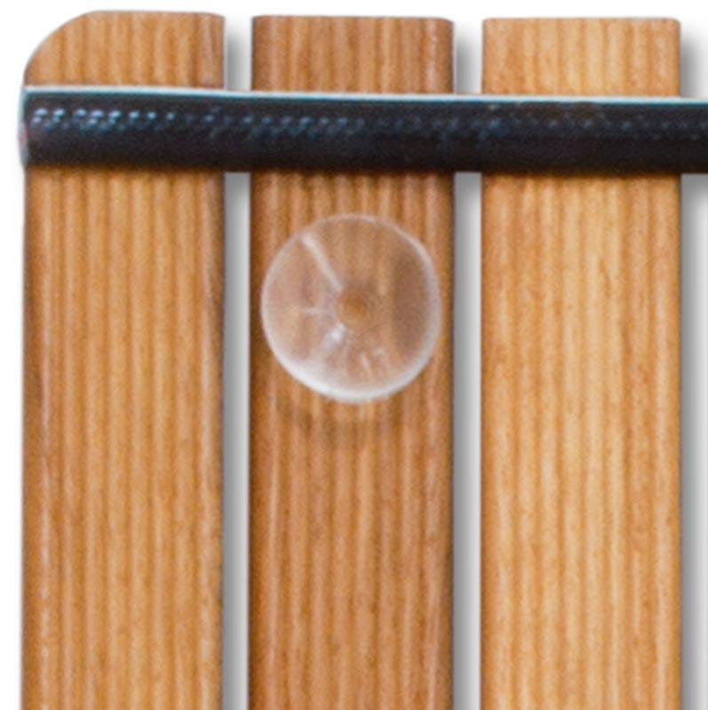 Alfombrilla 94x34 antideslizante ovalada tarima para - Tarimas para ducha ...
